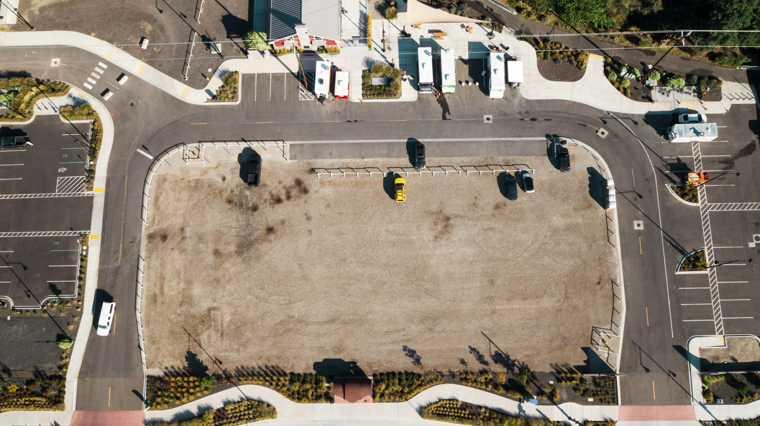 Direct overhead aerial of the 320 E. Columbia Gardens Way parcel at Columbia Gardens.