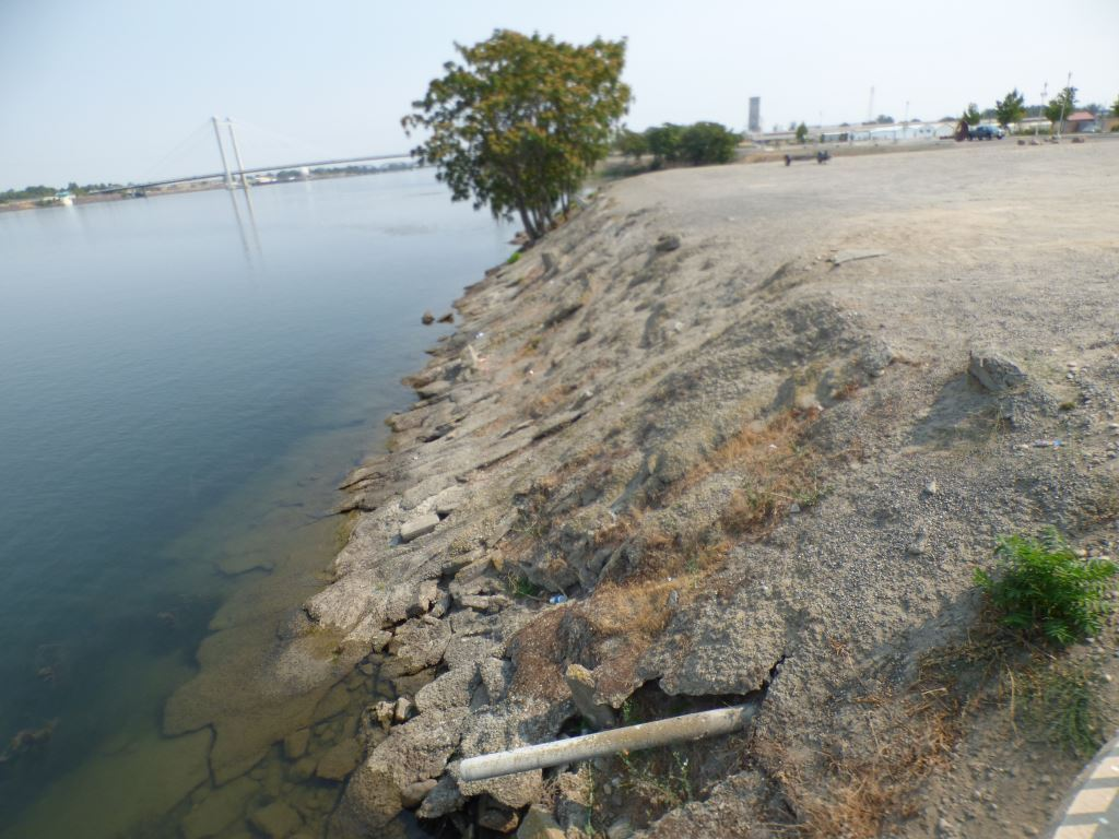 The Clover Island northwest corner shoreline that is part of a ecosystem restoration project that begins fall 2021.