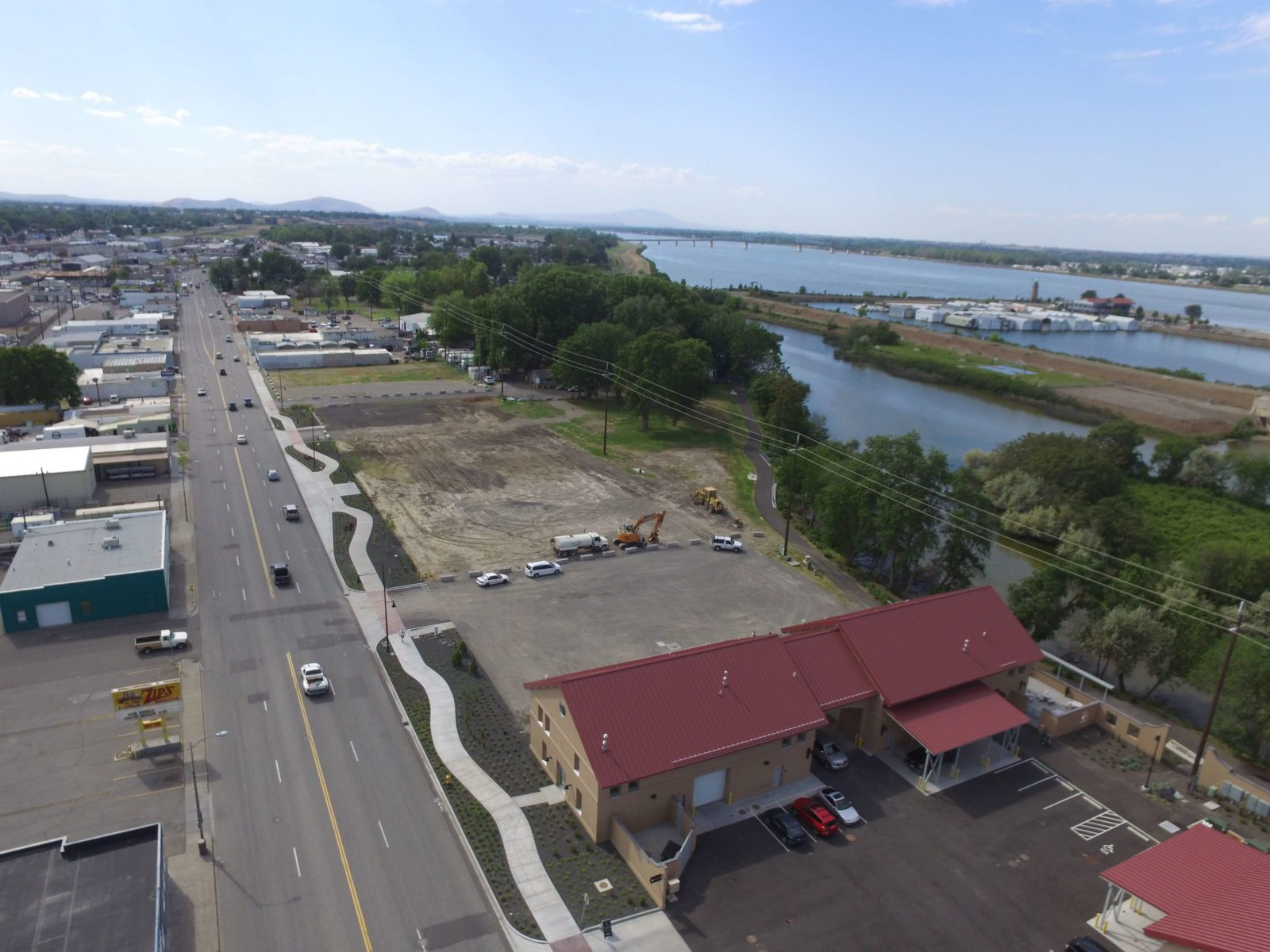 Aerial view of Wine Village before Phase 2 construction.