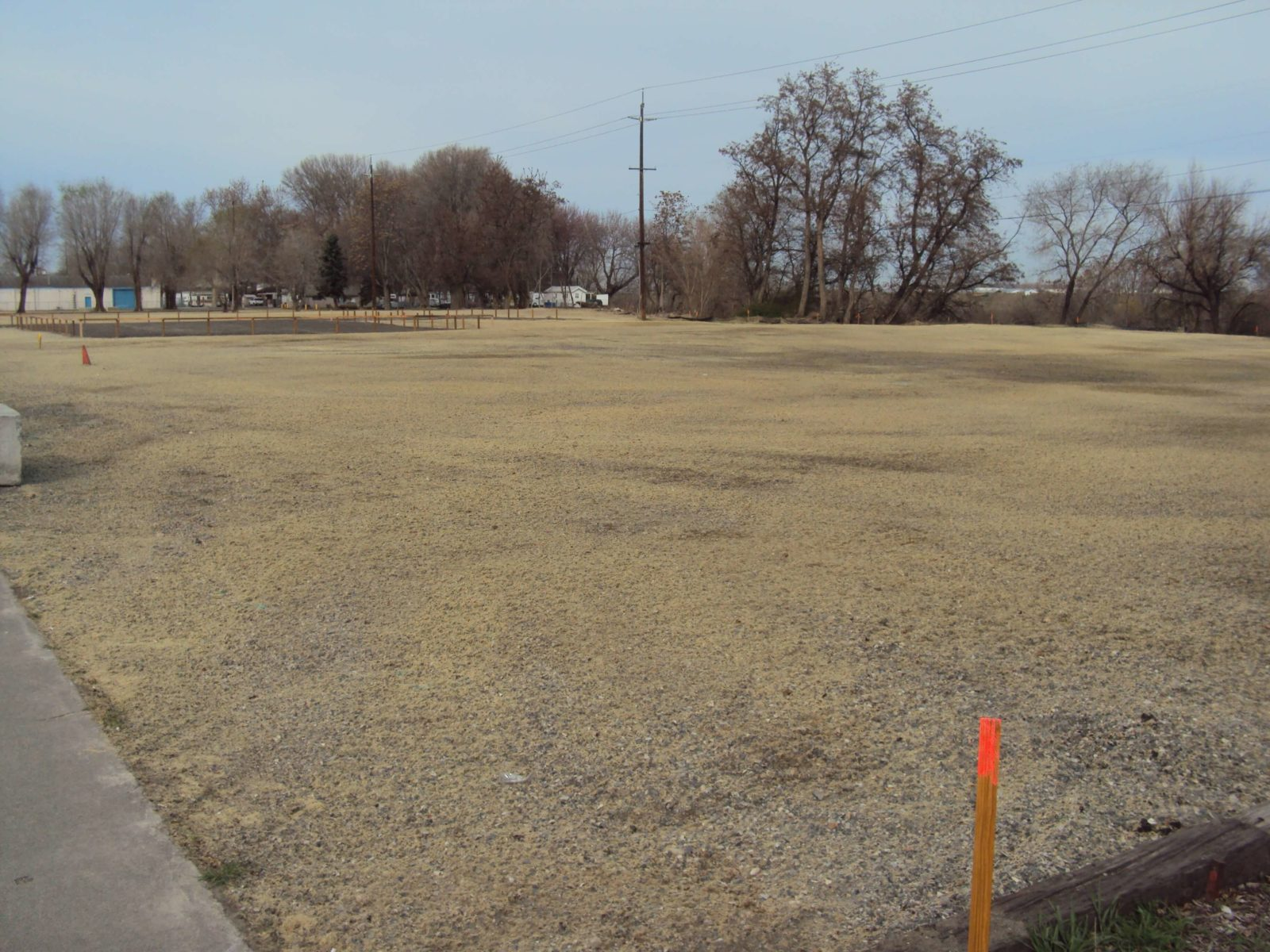 Site is graded and leveled after undergrounding utilities.