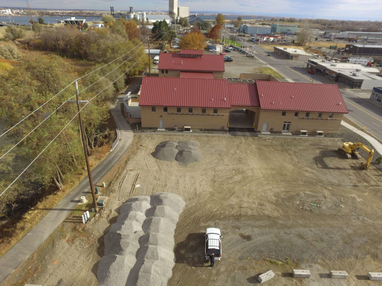 Columbia Gardens wastewater treatment facility under construction.