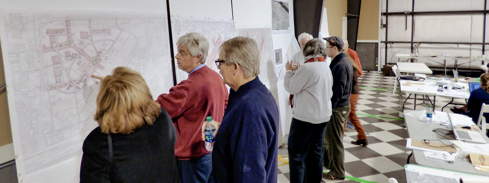 Community members participating in Vista Field charrette.