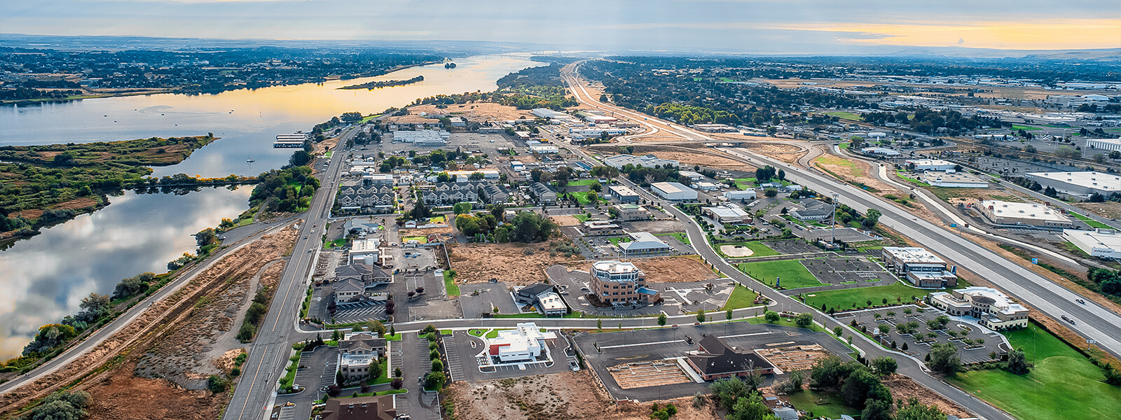 Aerial of Spaulding Business Park in Richland.