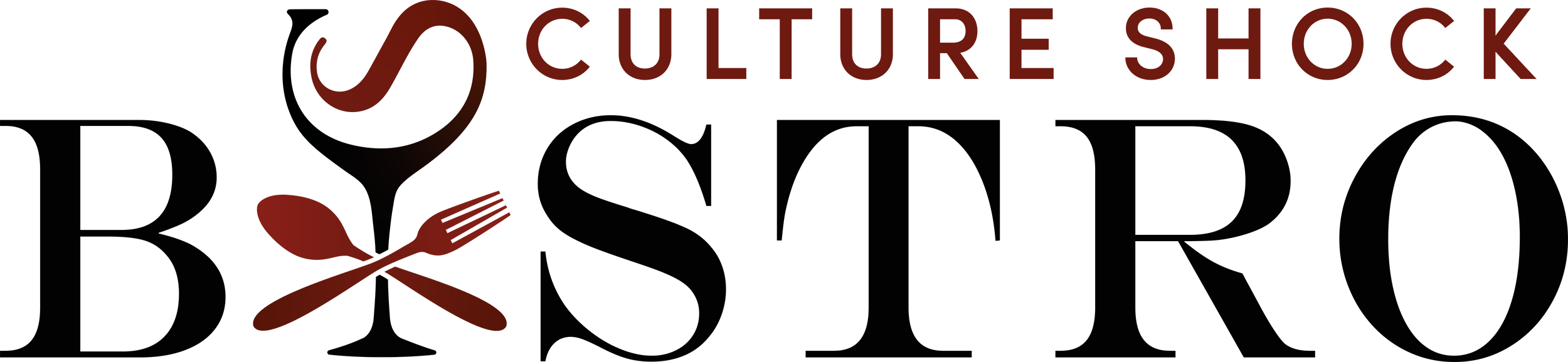 Culture Shock Bistro food truck logo.