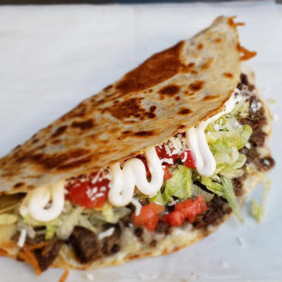 A beef quesadilla from Don Taco.