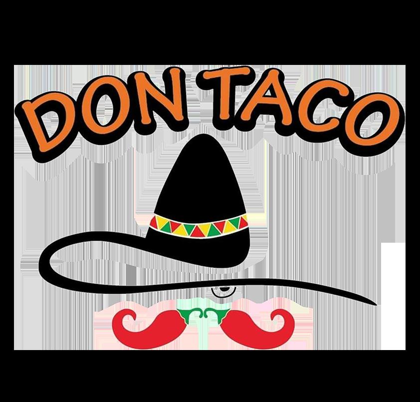 Don Taco food truck logo.