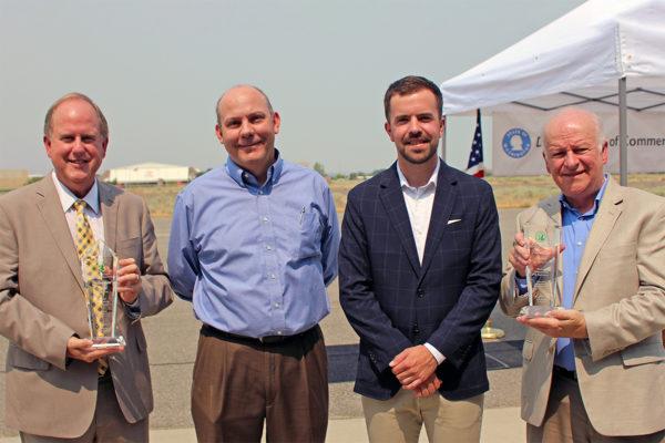 Governor's staff presents Smart Partnership Award to Port, City of Kennewick.