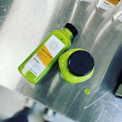 Karma Juice Half Lotus bottled juice.
