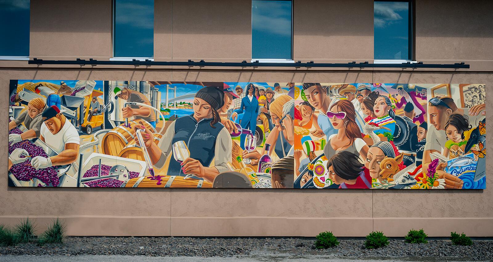 Mid-Columbia Latino Heritage Mural panel.