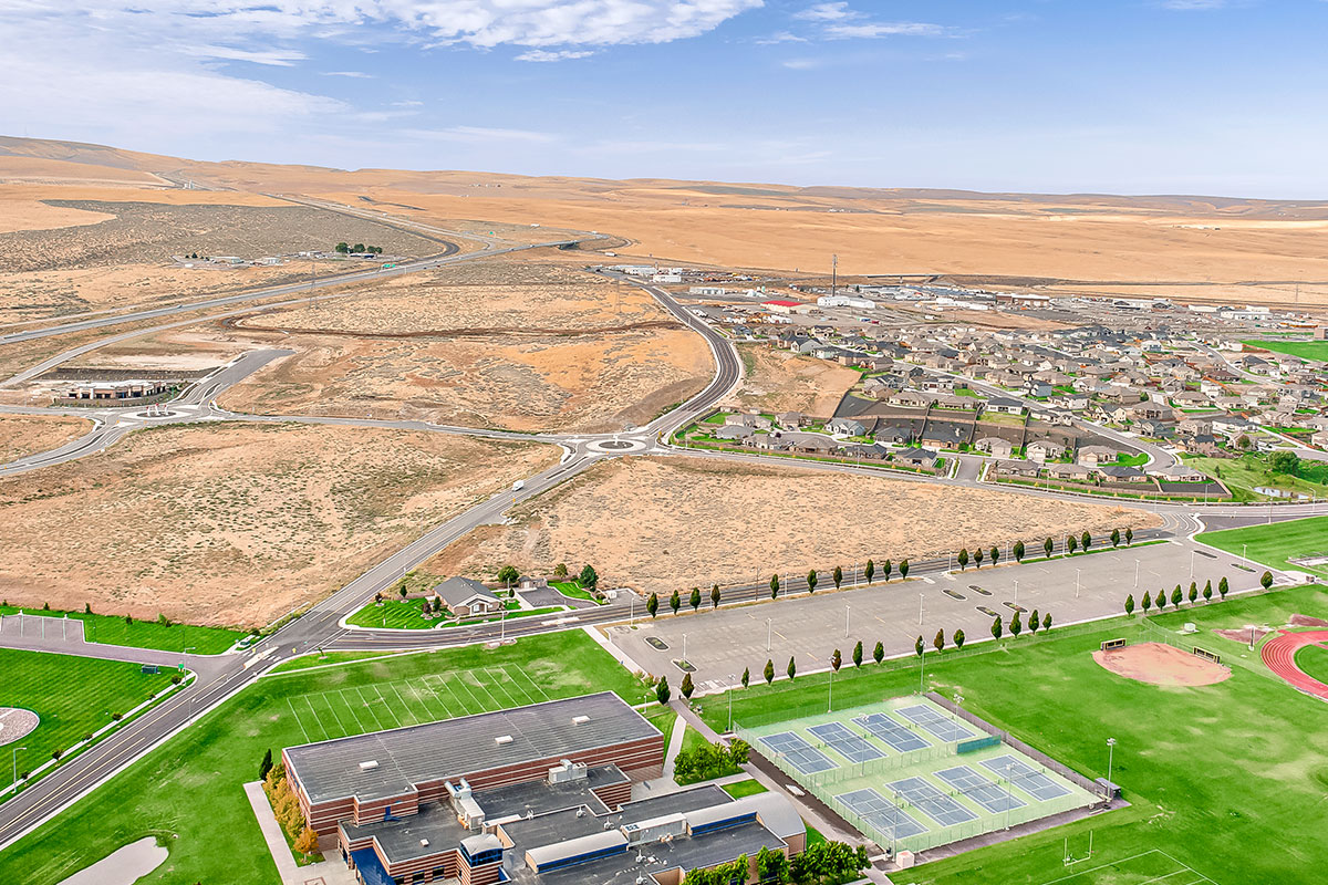 Aerial of Southridge Parcels for sale.