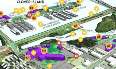 Map activity graphic for community feeback on the proposed Kennewick Historic Waterfront District Master Plan.