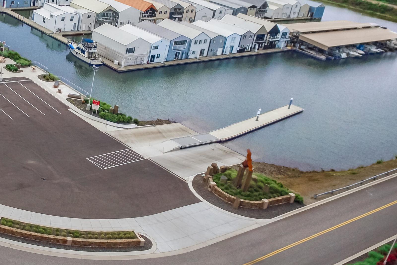 Clover Island Marina public boat launch.