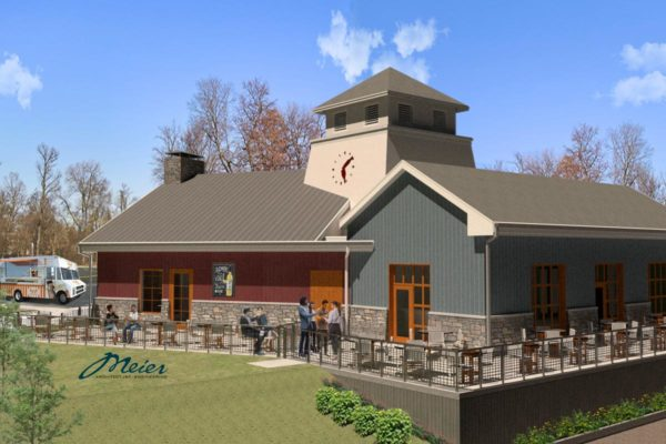 Artist rendering of fourth tasting rooms building, Columbia Gardens.