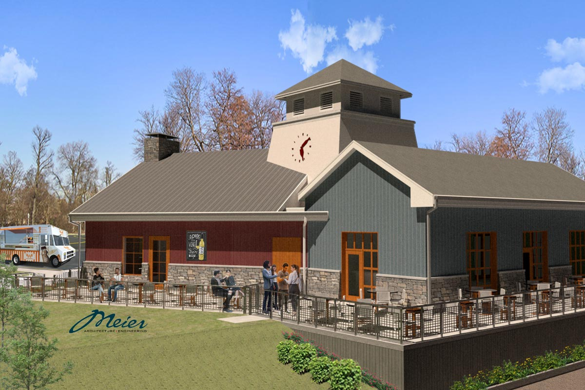 Rendering of fourth tasting rooms building, Columbia Gardens.