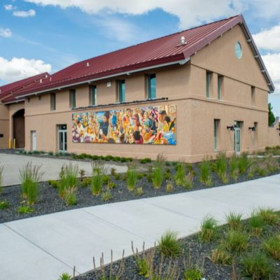 Latino Heritage Murals installed on Columbia Gardens winery buildings.