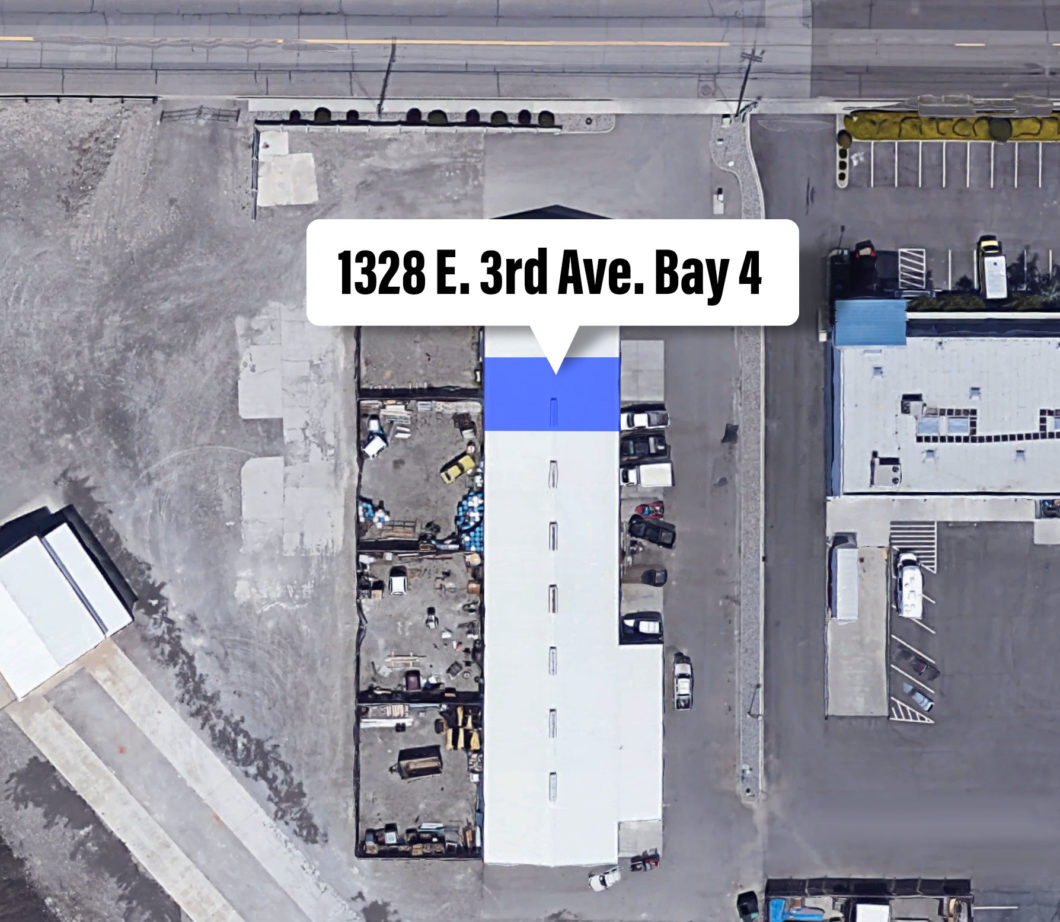 Oak Street Industrial Park Development Building aerial.