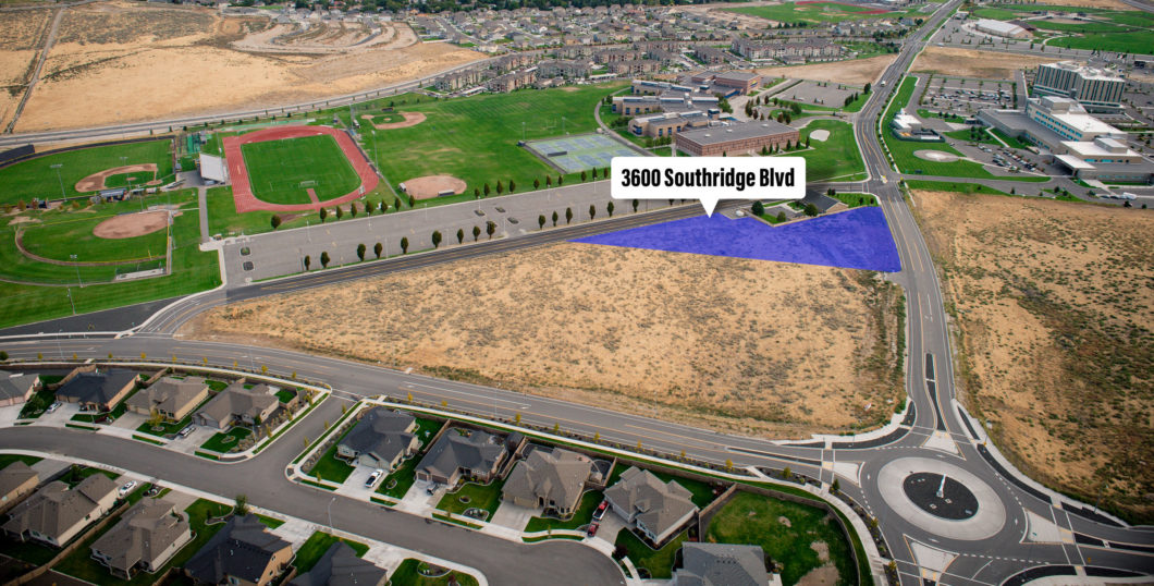 Aerial of Southridge parcel at 3600 Southridge Blvd.