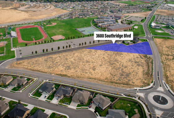 Aerial of Southridge parcel at 3600 Southridge Blvd.