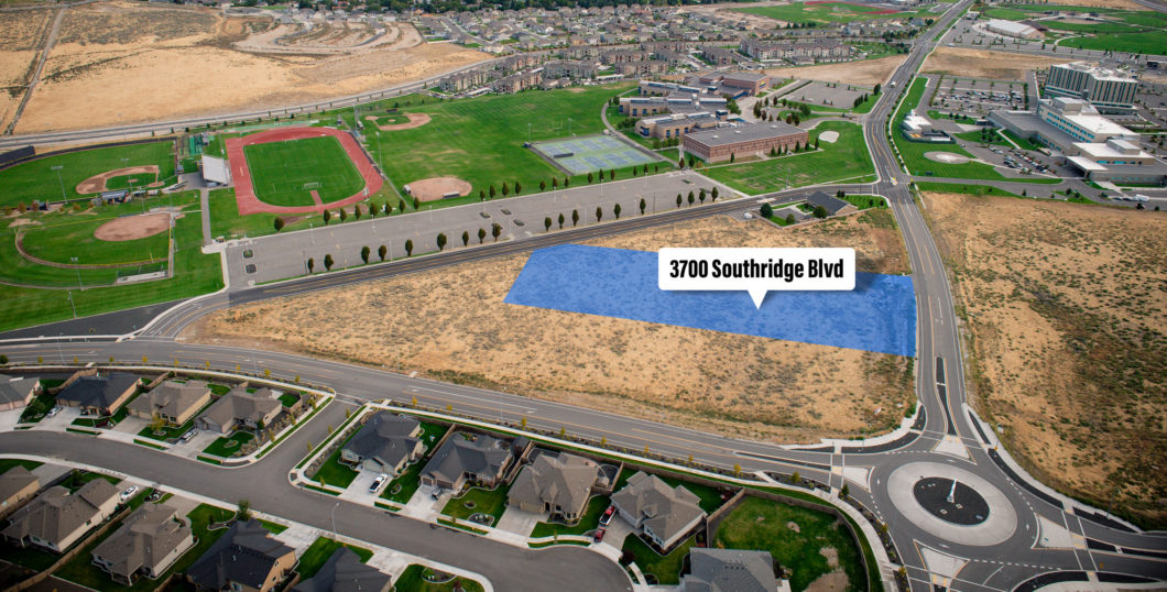 Aerial of Southridge parcel at 3700 Southridge Blvd.