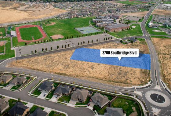 Aerial of Southridge parcel at 3700 Southridge Blvd.