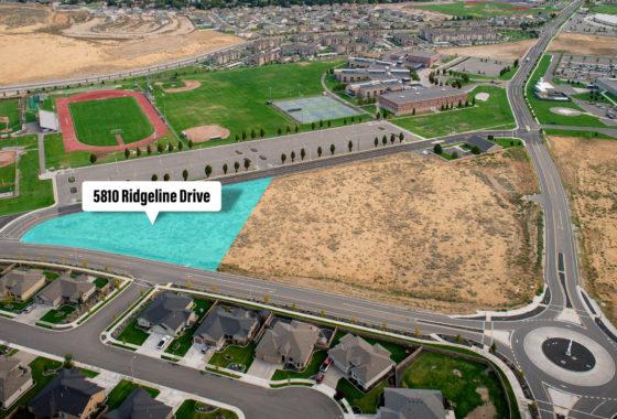 Aerial of Southridge parcel at 5810 Ridgeline Drive.