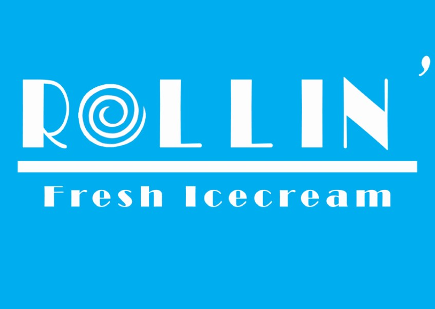 Logo for Rollin' Fresh Ice Cream.