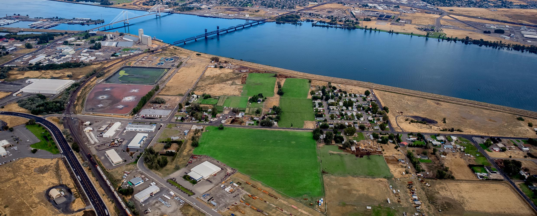 Aerial of Oak Street Industrial Park.