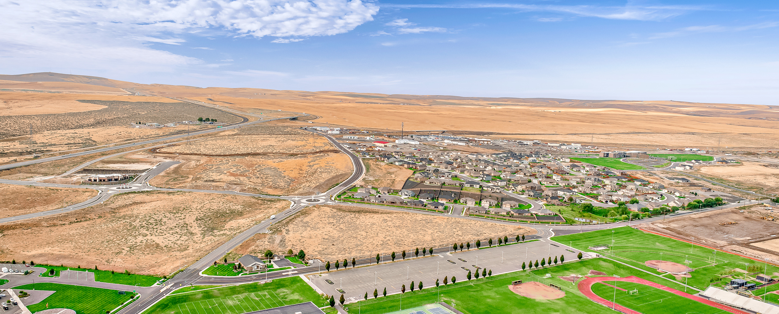 Aerial of Southridge parcels for sale in Kennewick.