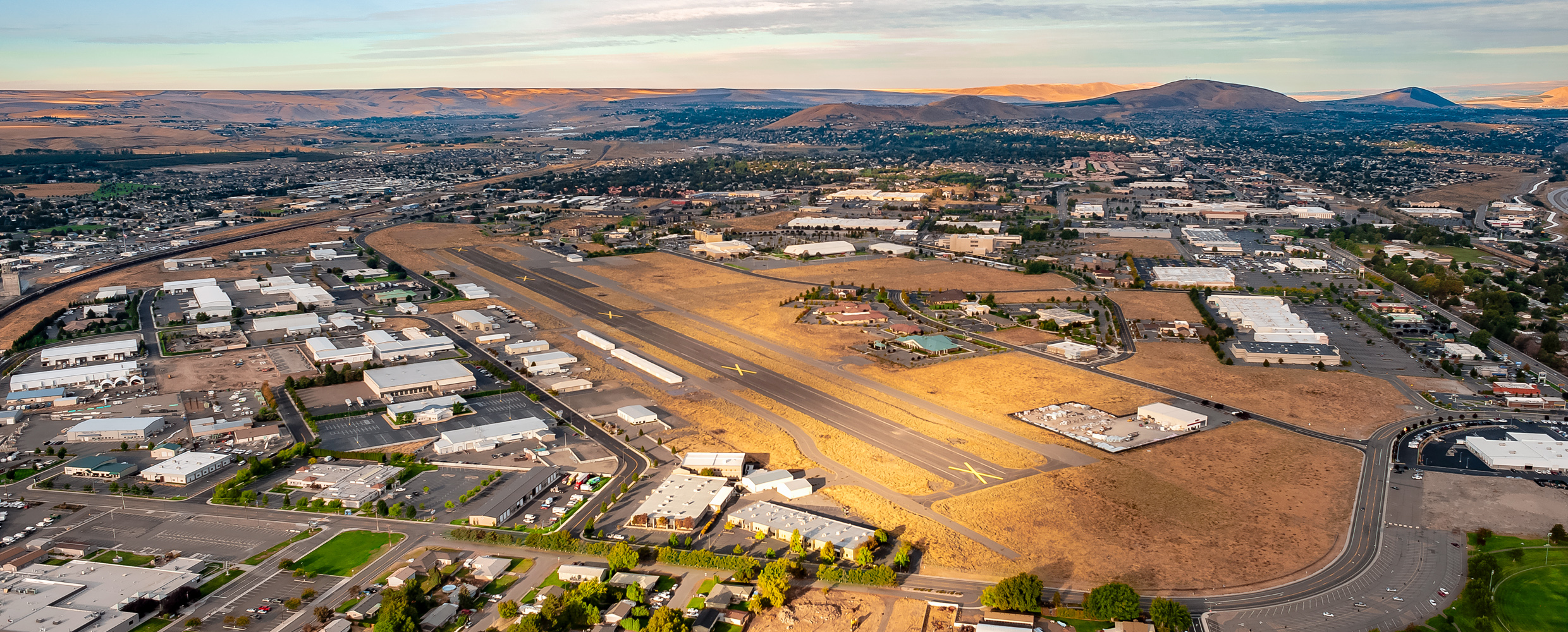Aerial of Vista Field before redevelopment.