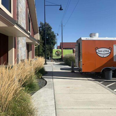 Taste of Wok food truck at Columbia Gardens.