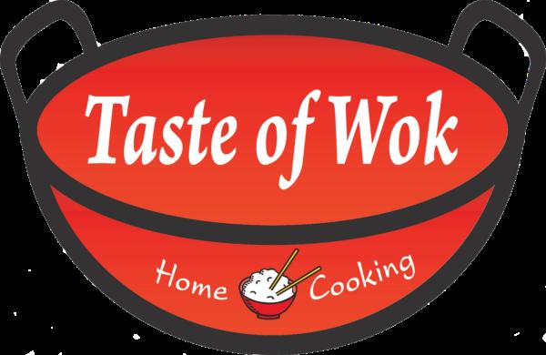 Taste of Wok food truck logo.