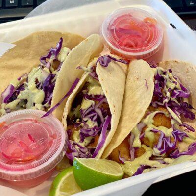 Tony's Shrimp Tacos at Culture Shock Bistro.