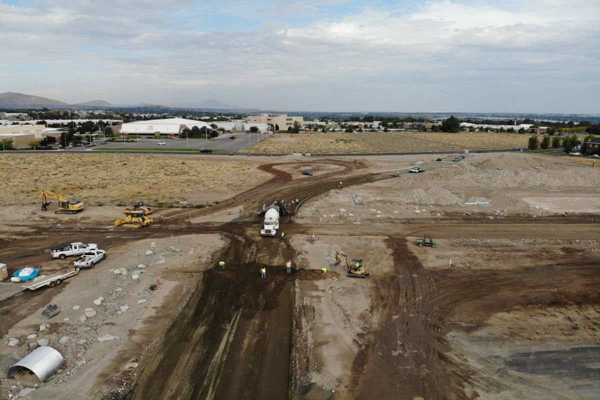 Aerial of Vista Field Phase 1 improvements
