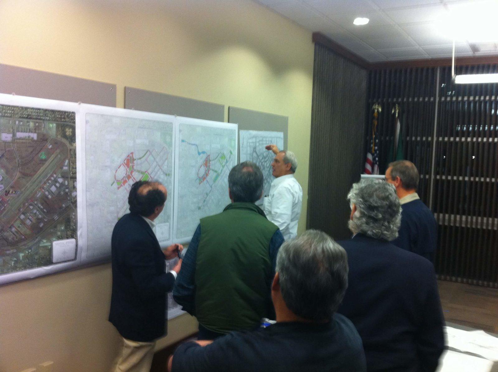 DPZ team reviews renderings at Vista Field EIS Kickoff Meeting,