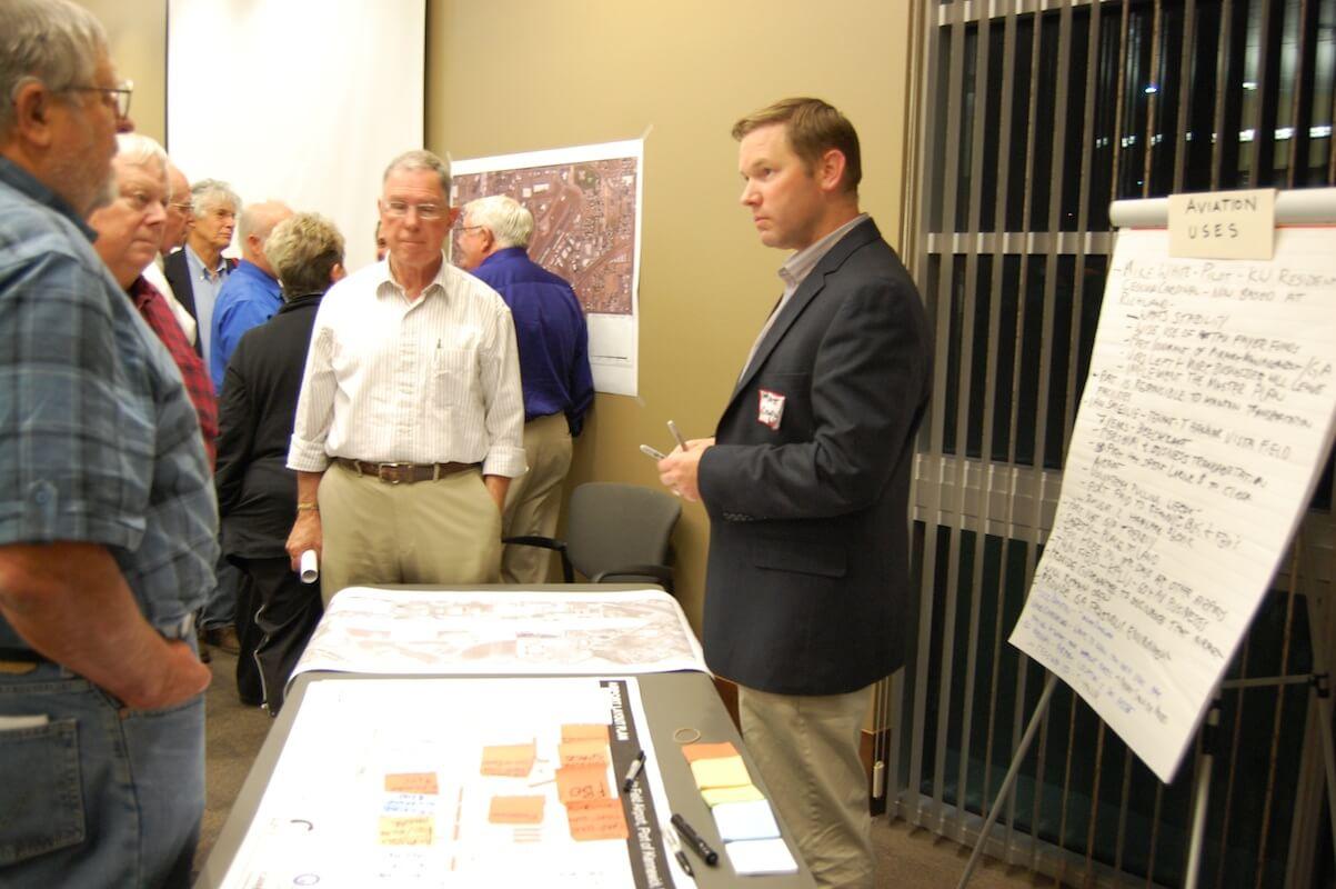DPZ gathers audience input at Vista Field EIS-Scoping Meeting.