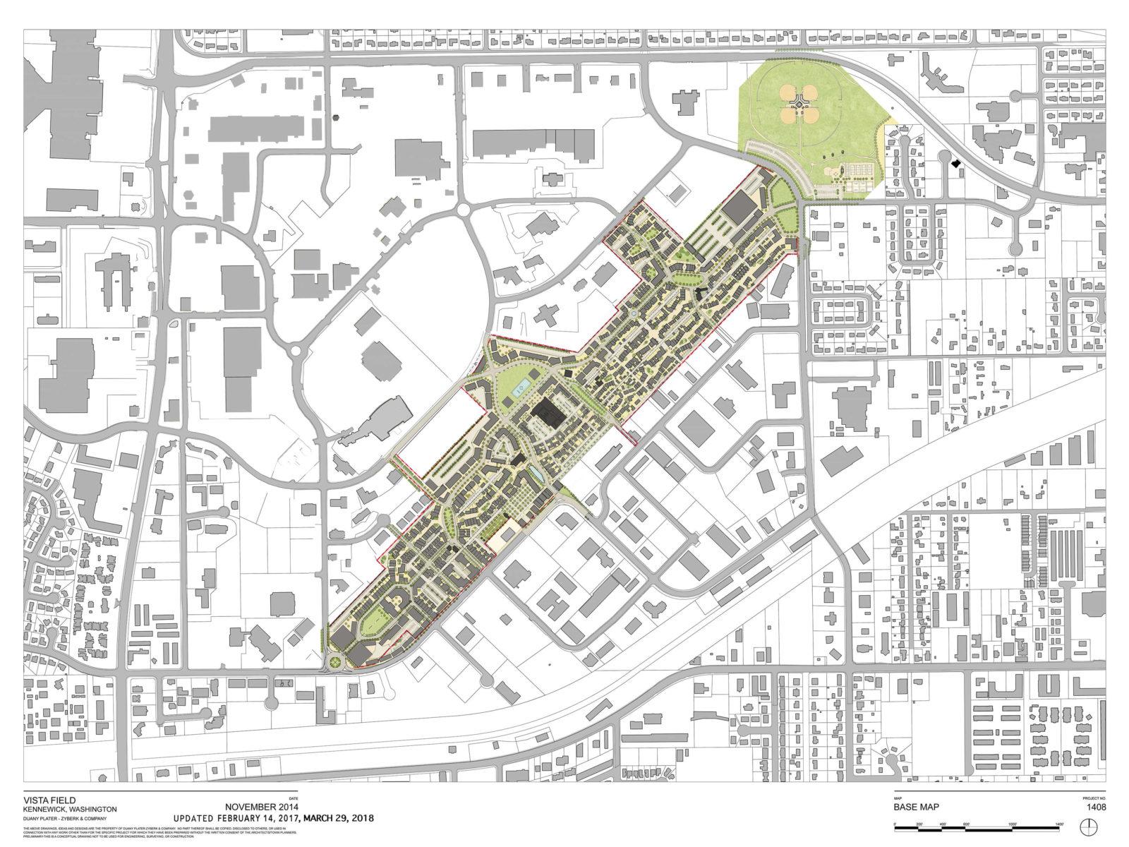 Vista Field full-site redevelopment plan.