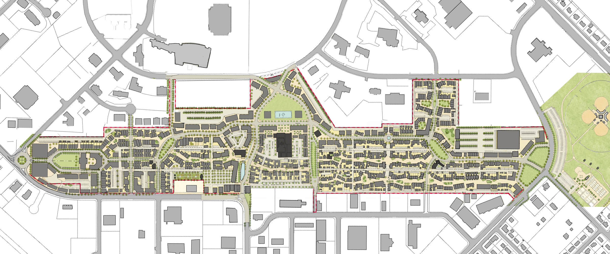 Vista Field full-site redevelopment plan.