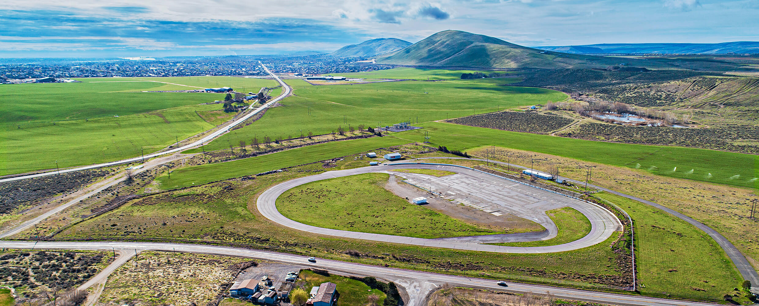 Aerial of West Richland Industrial Park.