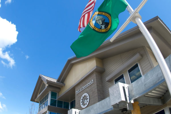 Port of Kennewick office building on Clover Island.