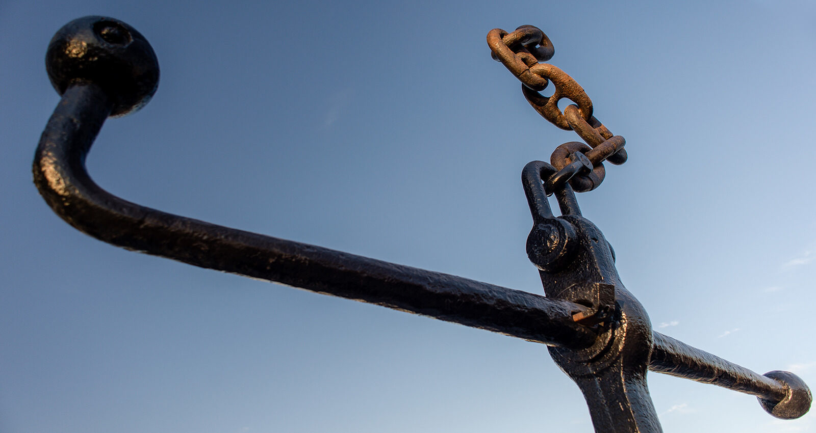 Top section of the Anchor at East Notch art installation.