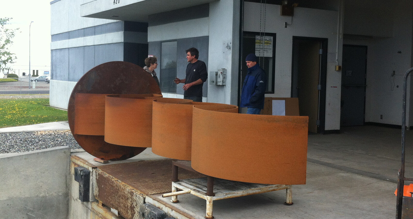 Aspirations art installation during fabrication.