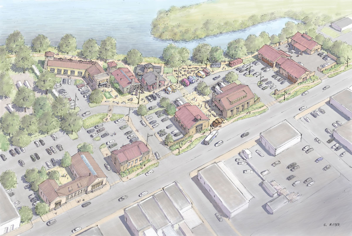 Artist rendering of Columbia Gardens at completion.
