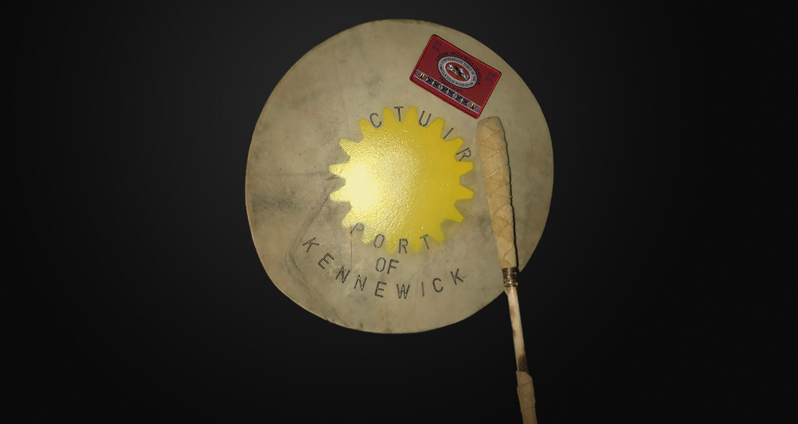 Confederated Tribes of the Umatilla Indian Reservation ceremonial drum.