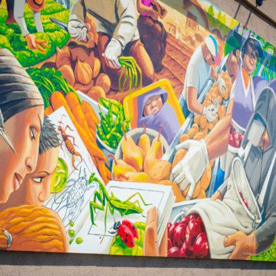 Mid-Columbia Latino Heritage Mural at Columbia Gardens.