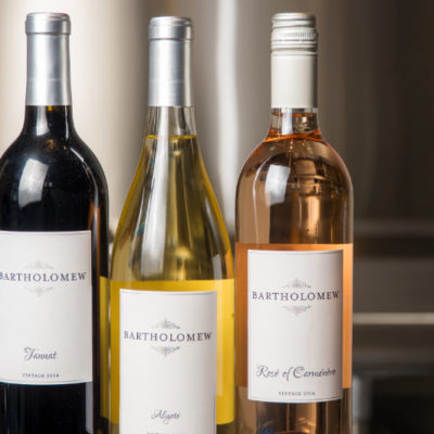 A trio of wines from Bartholomew Winery.