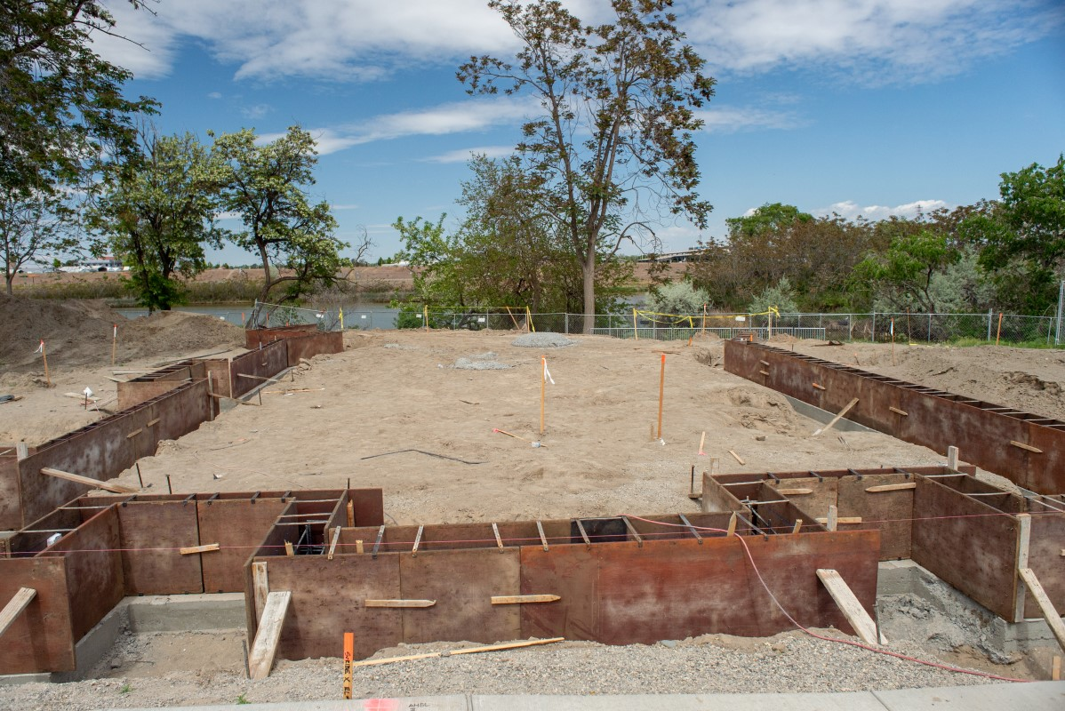 footings and foundation of fourth winery building under construction