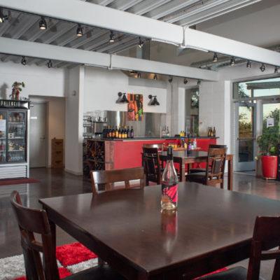 Monarcha Winery tasting room at Columbia Gardens.