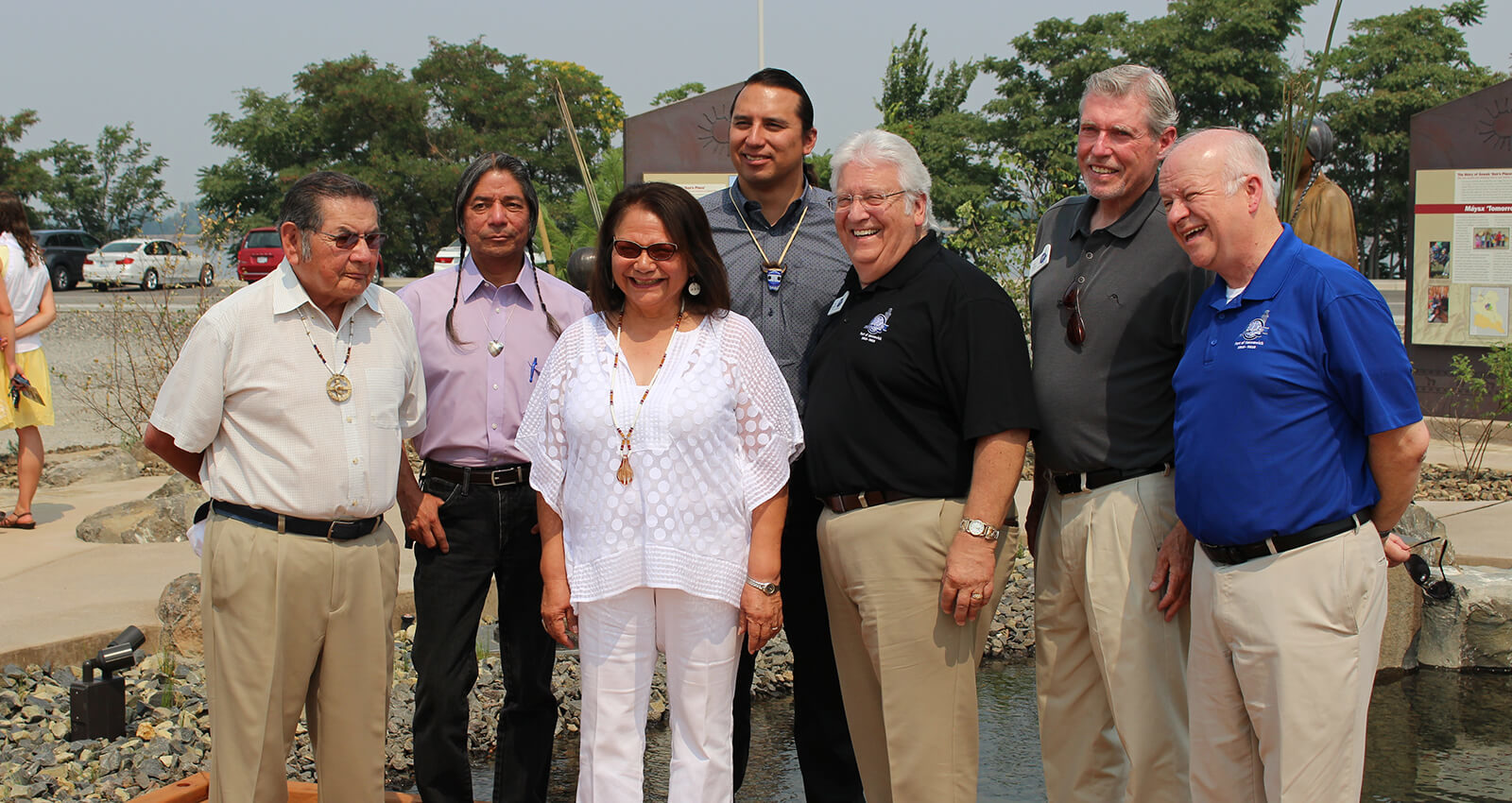 Port and Tribal officials at The Gathering Place.
