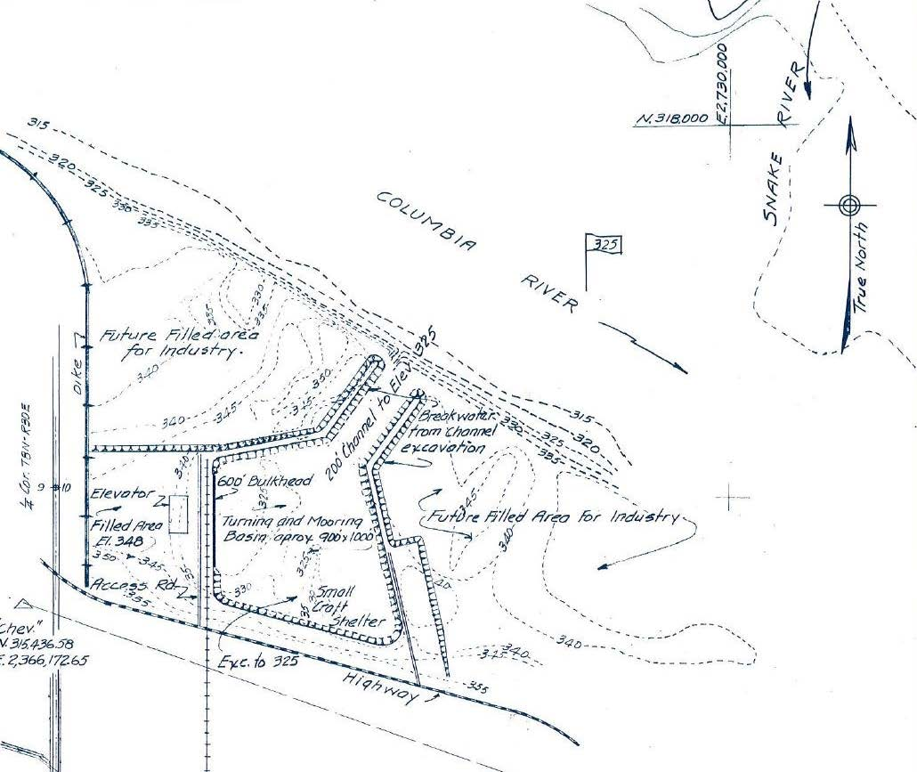 Camp Two Rivers development plan schematic, 1955.